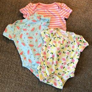 Lot of 3 Baby Gap 0-3 month onesies